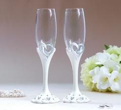 Набор свадебных бокалов «Кольца», на ножках, полистоун, 25 см, 250 мл, фото 1