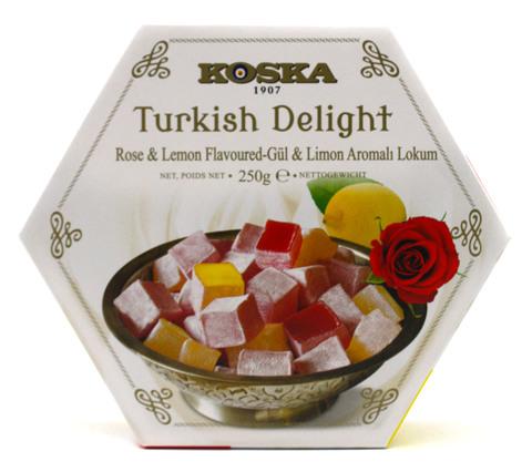 Рахат-лукум со вкусом розы и лимона, Koska, 250 г