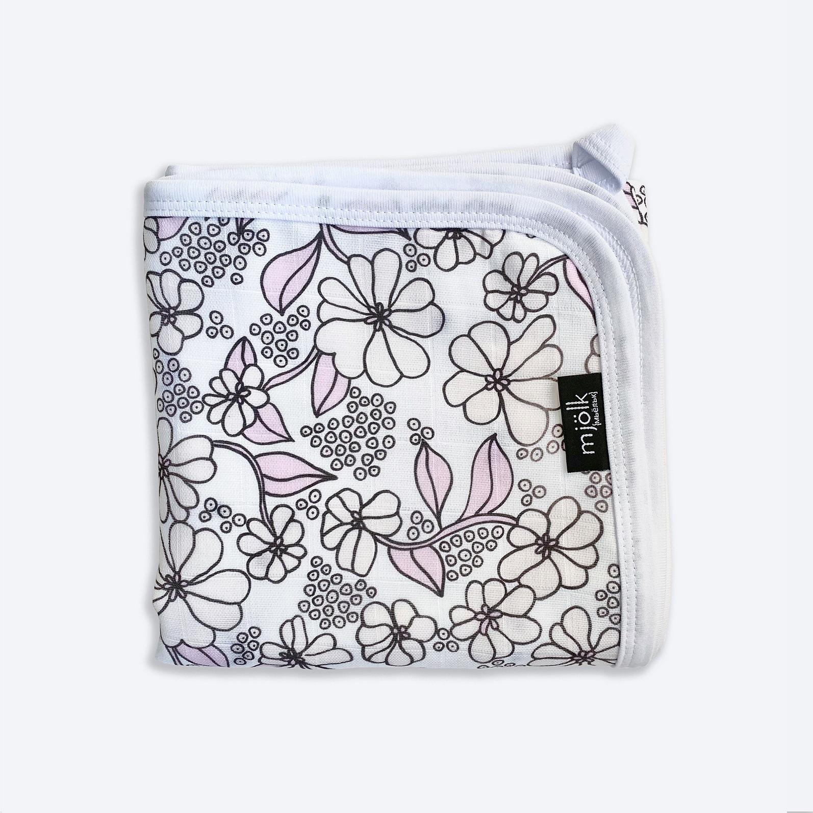 Муслиновое лёгкое одеяло Mjölk Spring Blossoms