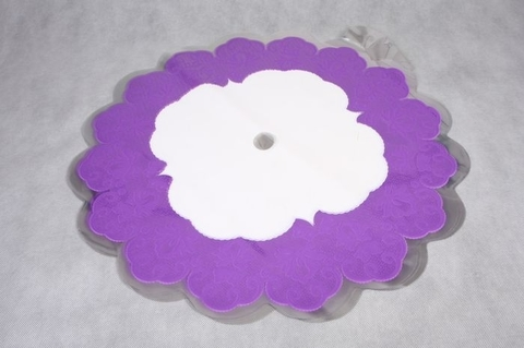Салфетка ажурная круг d60 см цвет: сиреневая