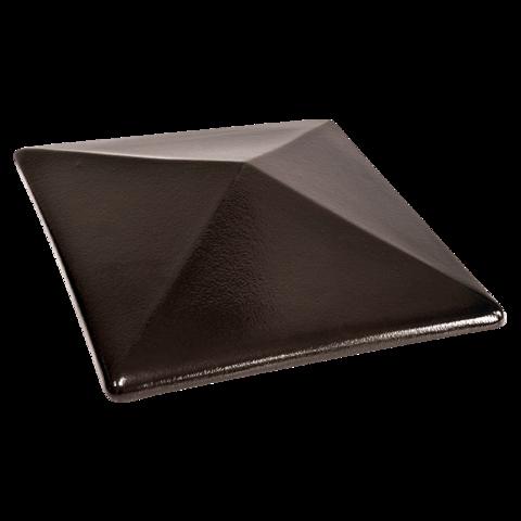Колпак для столбов забора King Klinker, Ониксовый черный (17) Onyx black, 445x585x106