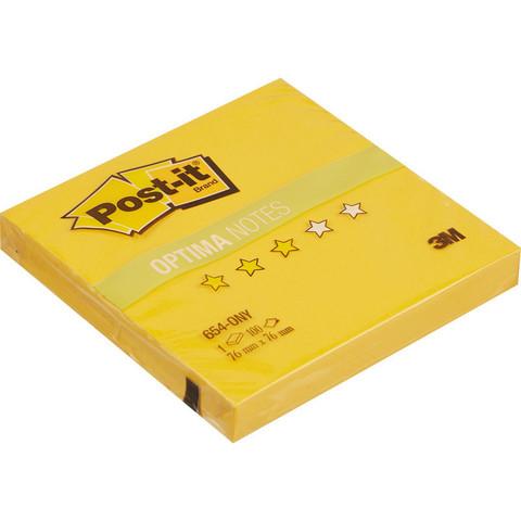 Стикеры Post-it Original Лето 76x76 мм неоновые желтые (1 блок, 100 листов)