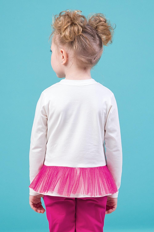 Свитшот белый для девочки 44-9002-4