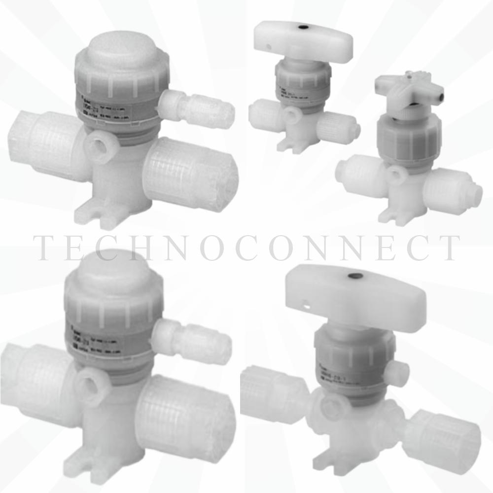 LVQ20-T06R   2/2 Н.З. хим. стойкий пн.клапан с патрубком, диам. 6