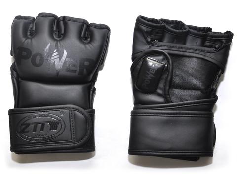 Перчатки для ММА. Цвет: чёрный. Размер М: ZTM-004-Ч-М