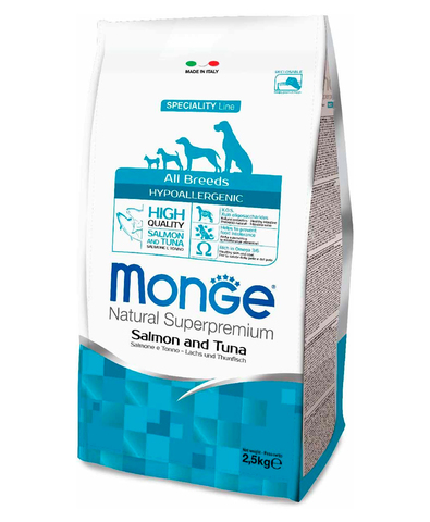 Monge Dog Speciality Hypoallergenic корм для собак гипоаллергенный (лосось с тунцом) 2,5кг