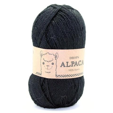 Пряжа Drops Alpaca 8903 черный