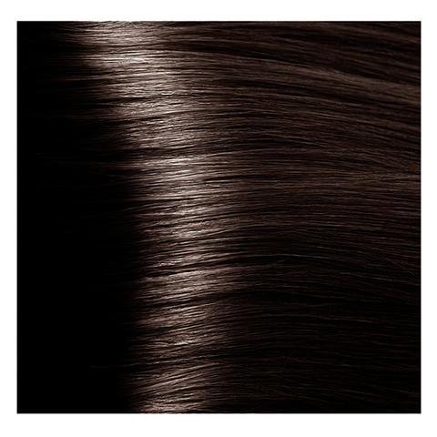 Крем краска для волос с гиалуроновой кислотой Kapous, 100 мл - HY 4.81 Коричневый какао пепельный