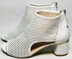 Красивые женские босоножки на среднем каблуке Magnolya 3503 56-3 SummerWhite