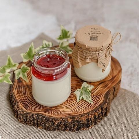 Йогурт термостатный с джемом Клубника 3,2 % 250 г