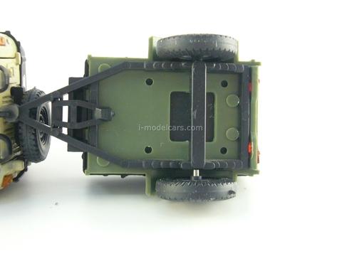 UAZ-469 beige with trailer khaki 1:43 Agat Mossar Tantal