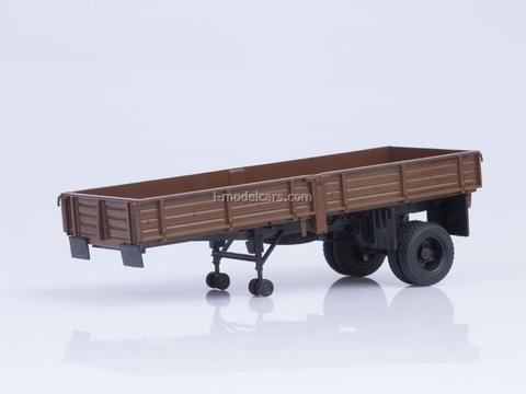 Semitrailer ODAZ-885 brown 1:43 AutoHistory