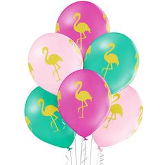 "Шары с рисунком ""Фламинго"" 35 см"