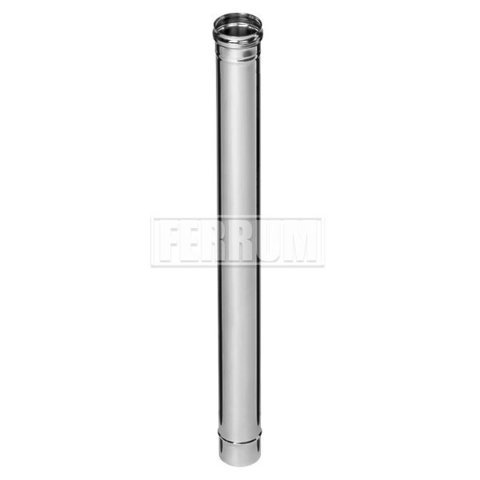 Дымоход одностенный Ferrum Plus Ø120 1 м 0,8 мм