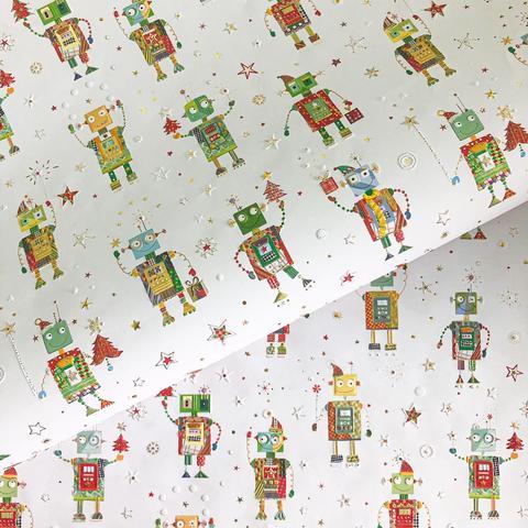Бумага подарочная Веселые роботы