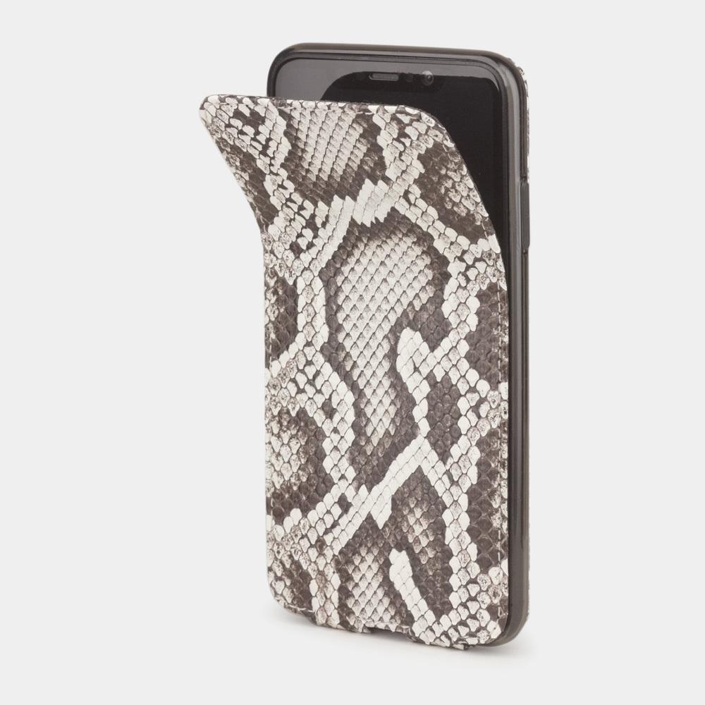 Чехол для iPhone X/XS из натуральной кожи питона, цвета Natur