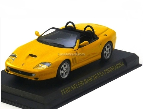 Ferrari 550 Barchetta yellow 1:43 Eaglemoss Ferrari Collection #19