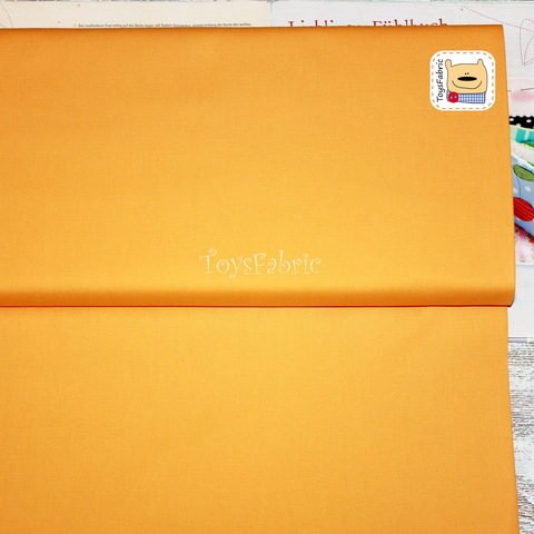 Ткань для пэчворка хлопок однотонный янтарно-жёлтый 20660 (45х55см)
