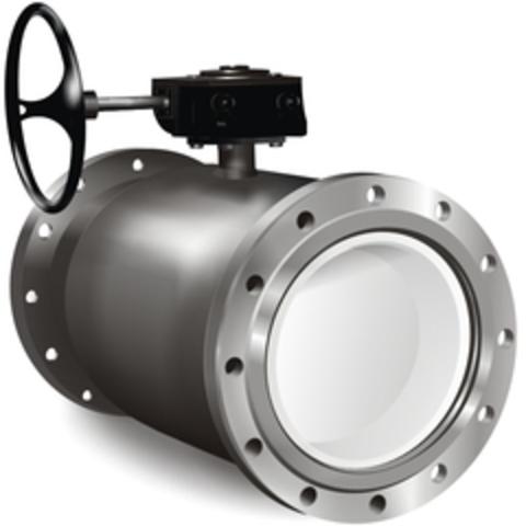 Кран шаровый фланцевый LD КШЦФ для воды полный проход с редуктором