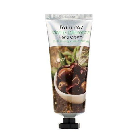 Крем для рук с экстрактом оливы Farm stay visible difference hand cream olive