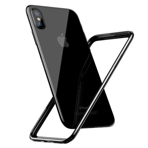 Бампер iPhone X/XS Baseus Hard And Soft Border Case /black/