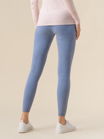 Женские брюки голубого цвета из 100% кашемира - фото 3