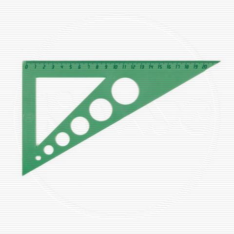 Треугольник Uniplast пластиковый зелёный 21 см