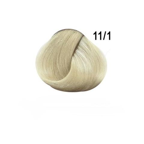 Перманентная крем-краска для волос Ollin 11/1 специальный блондин пепельный