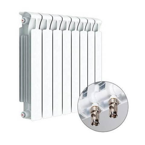 Радиатор биметаллический секционный Rifar Monolit Ventil 350 - 7 секций (подключение нижнее правое)
