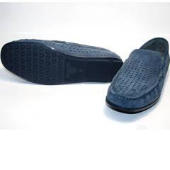Летние мокасины мужские модные IKOC 1352-2 Blue.