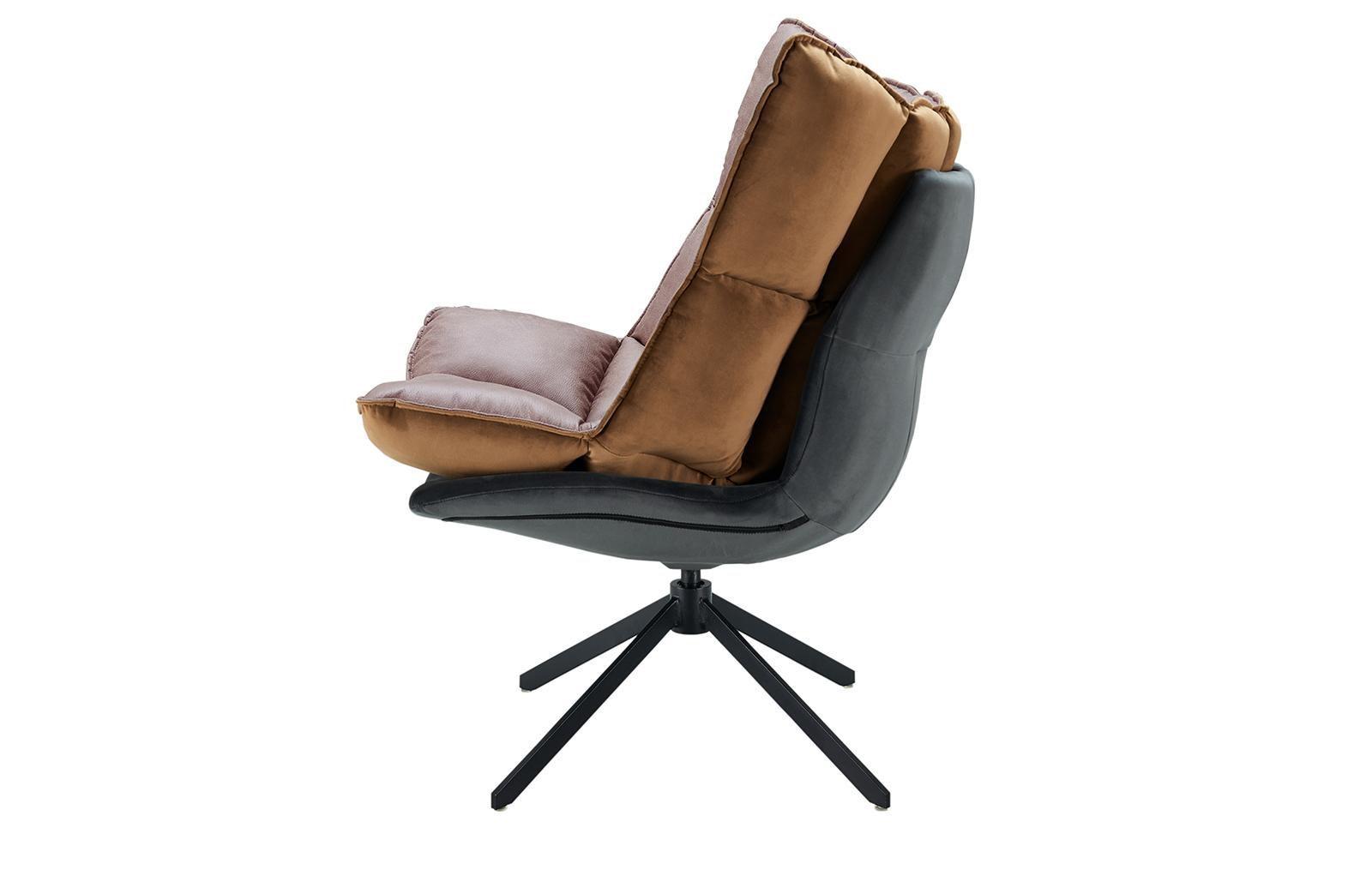 Дизайнерское кресло DC-1565F коричневое (BROWN)