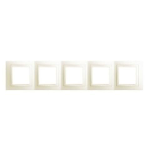 Рамка на 5 постов. Цвет Бежевый. Schneider electric Unica. MGU2.010.25