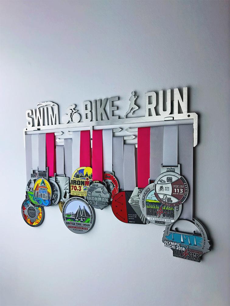 Медальница Swim bike run 3.0