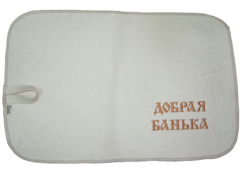 Коврик для сауны белый классический Добрая банька