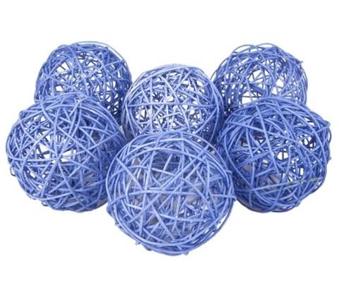 Плетеные шары из ротанга (набор:6 шт., d10см, цвет: сиреневый)