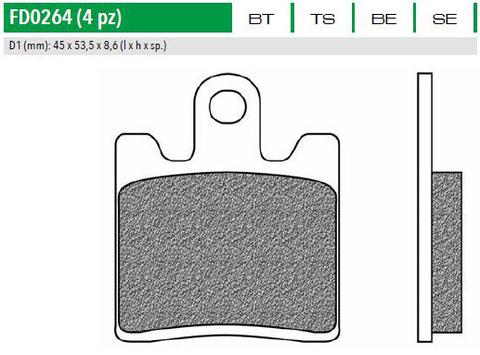 FD0264BE Тормозные колодки для YAMAHA FJR 1300 (FDB2085)