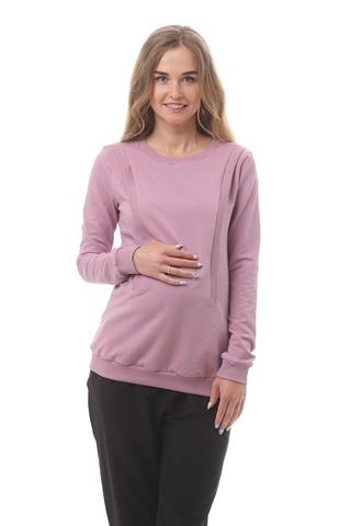 Свитшот для беременных и кормящих 10182 розовый