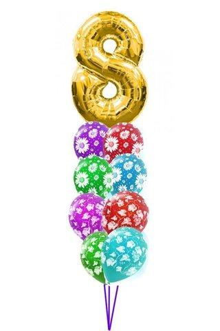 Воздушные шары 8 марта Ромашки