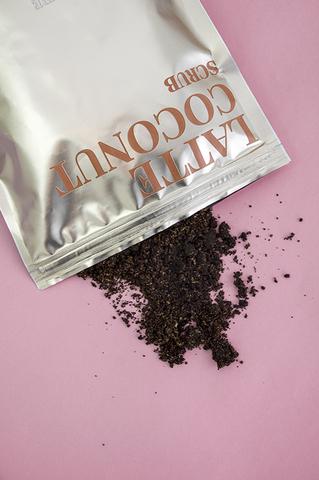 Натуральный кофейный скраб для тела «Латте и Кокос»