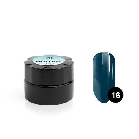 Гель-краска для дизайна ногтей TNL №16 (изумруд), 6 мл.