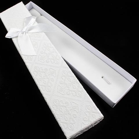 Подарочная коробка для украшений 21 см молочно-белая