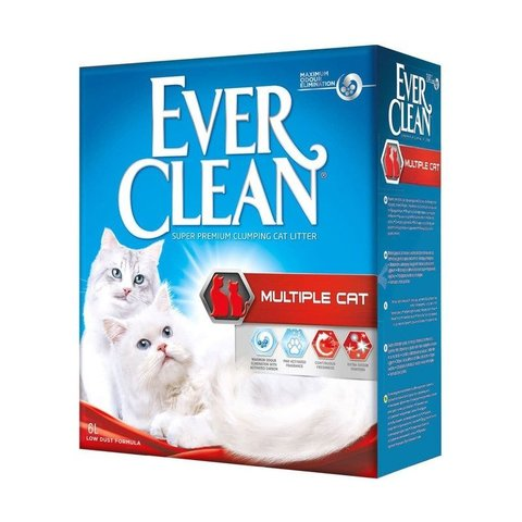 Ever Clean Multiple Cat наполнитель для нескольких кошек 6л