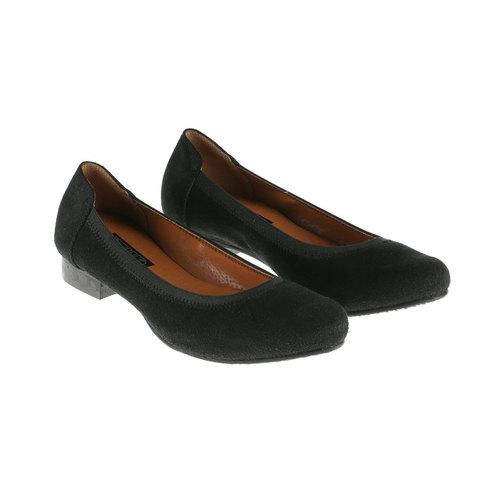 567269 Туфли женские черные замша. КупиРазмер — обувь больших размеров марки Делфино