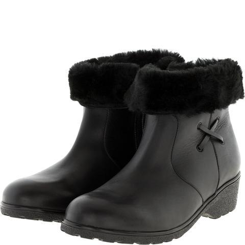 574401 Полусапожки женские черные кожа. КупиРазмер — обувь больших размеров марки Делфино
