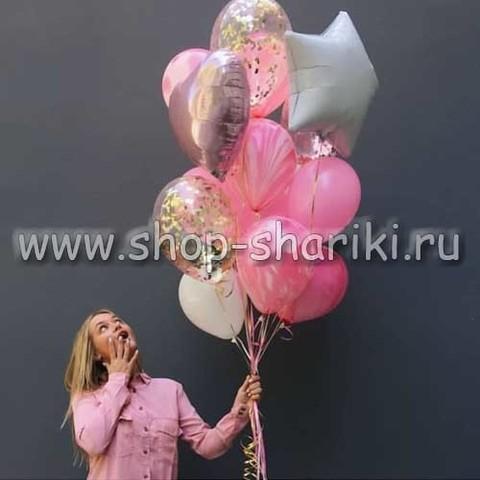 фонтан из шаров девушке