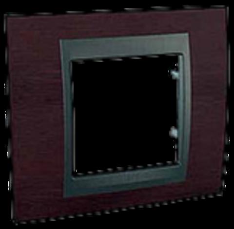 Рамка на 1 пост, вертикальная. Цвет Венге-графит. Schneider electric Unica Top. MGU66.002.2M3