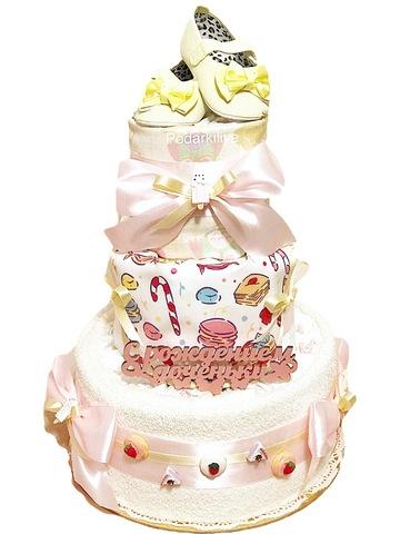 Торт из памперсов для девочки Джозефина