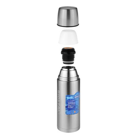 Термос Biostal Авто (1 литр) с термочехлом, стальной