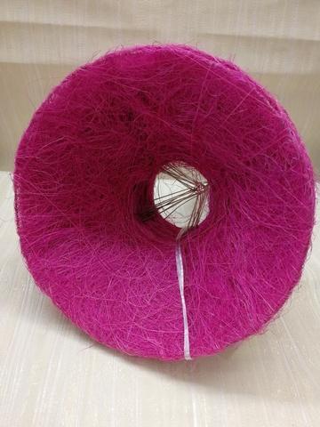 Каркас для букета гладкий (сизаль, диаметр: 15 см) Цвет: фуксия