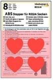 ABS-противоскользящие наклейки Regia для носков красные сердечки (8 шт.)